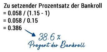 Bankroll Berechnung Over/Under