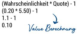 Value Berechnung
